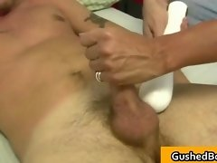 Gay clip of Cory gets his hard dick